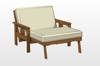 futon chair with pullout ottoman