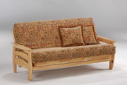 natural wood futon