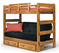 futon bunkbed with drawer unit