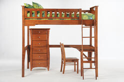 loft bed with desk and chest