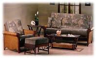 rattan futon setting