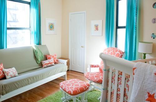 futon in your baby 39 s nursery great idea. Black Bedroom Furniture Sets. Home Design Ideas
