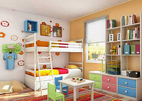 colorful child's bedroom