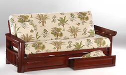 futon with drawers