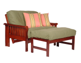 twin futon chair with ottoman