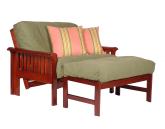 futon chair and ottoman
