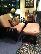 twin chair futon and ottoman