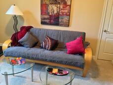 contemporary futon in playroom