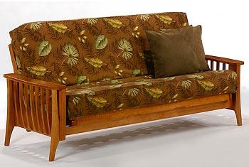 full wooden futon