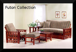 futon in a living room