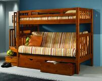 futon bunk bed with drawers
