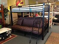 wood and metal futon bunk bed