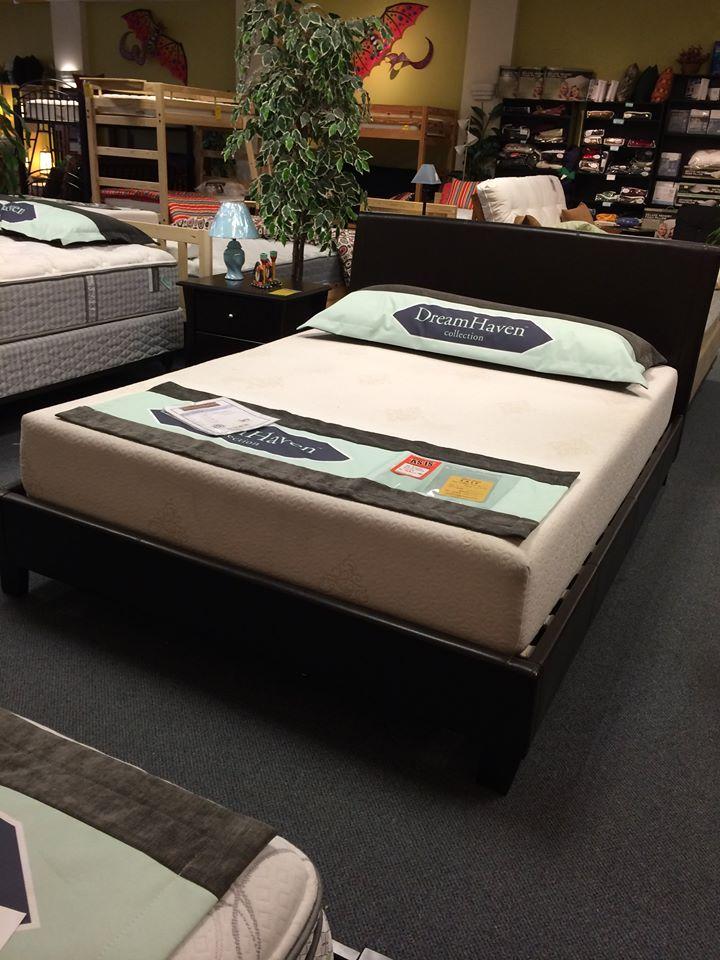 platform bed with mattress