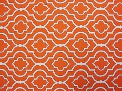 Scarlet orange colored futon cover