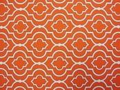 Scarlet orange colored futon cover