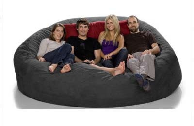 Bean Bag Futon Shiatsu Sac A Orange