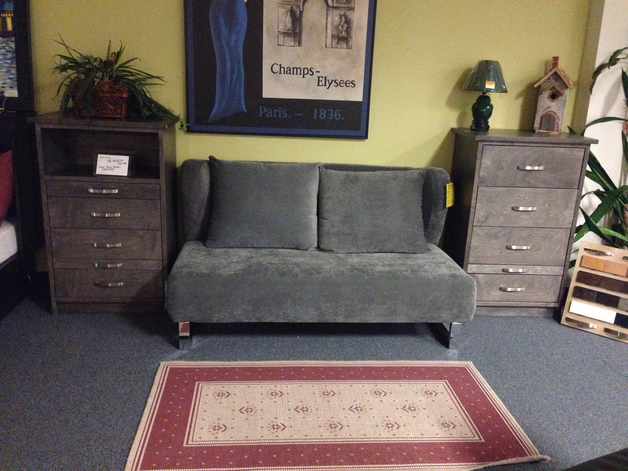 Loveseat/ Queen Bed